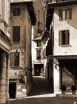Narrow Streets of Asolo by Donna Corless