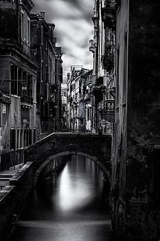Narrow Venice Canal by Andrew Soundarajan