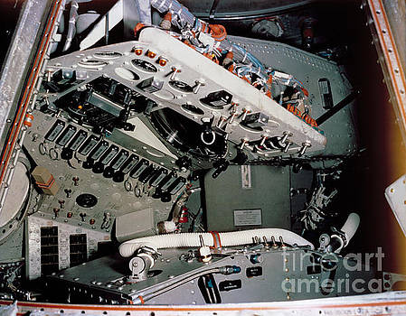 R Muirhead Art - NASA 1961 View of Mercury spacecraft instrument control panels