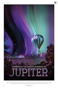Erik Paul - NASA Jupiter Poster Art Visions of the Future