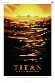 Erik Paul - NASA Titan Poster Art Visions of the Future
