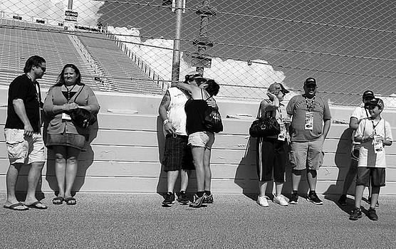 NASCAR Fans Before Race by Michael Gora