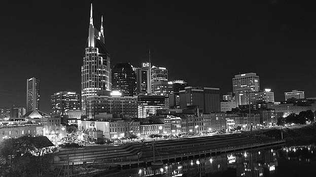 Nashville Skyline at Dusk by Mose Mathis