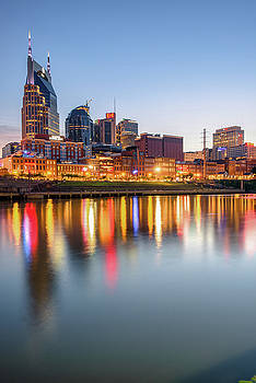 Nashville Skyline Reflections - Color Edition by Gregory Ballos