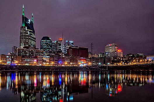 Nashville Skyline Reflecton by Patrick Collins