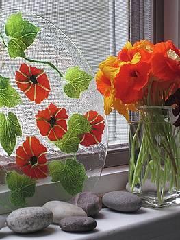 Nasturtium Window by Simi Berman