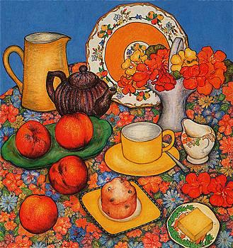Richard Lee - Nasturtiums and Peaches