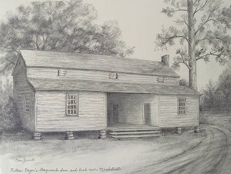 Nathan Bryan's Stagecoach Inn and Bank near Marshallville by Edna Garrett