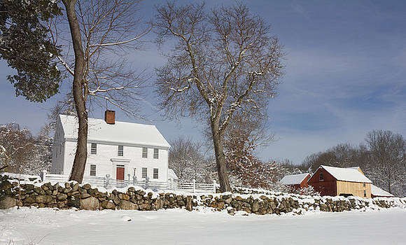 Nathan Lester Farm House in Winter by Kirkodd Photography Of New England