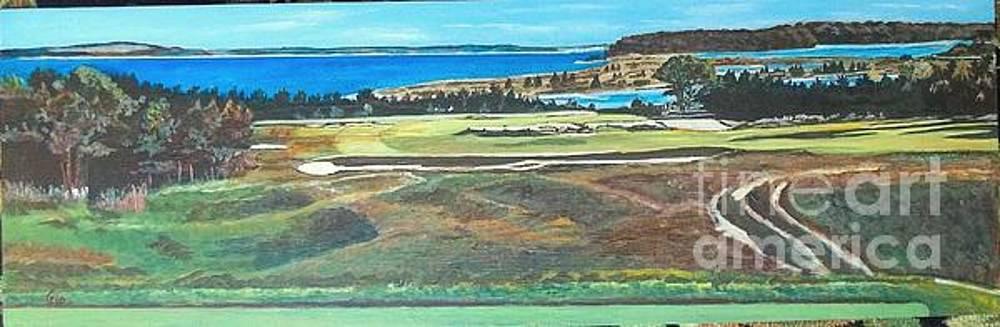 National Golf Links of America #17 tee by Frank Giordano