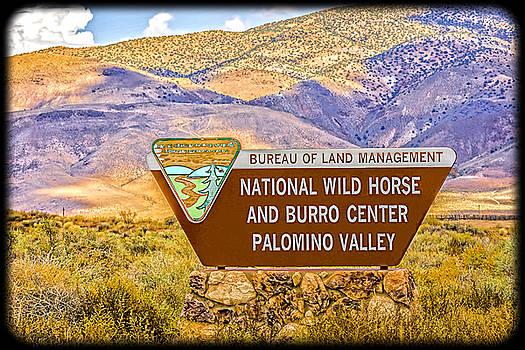 LeeAnn McLaneGoetz McLaneGoetzStudioLLCcom - National Wild Horse and Burro Center Palomino Valley Sign