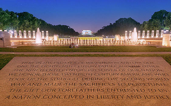 National World War 2 and Lincoln Memorial by Rima Biswas