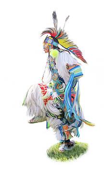 Native Pow Wow Dancer by Ramona Murdock