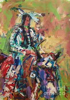 Native American Horse and Rider by Russ Potak