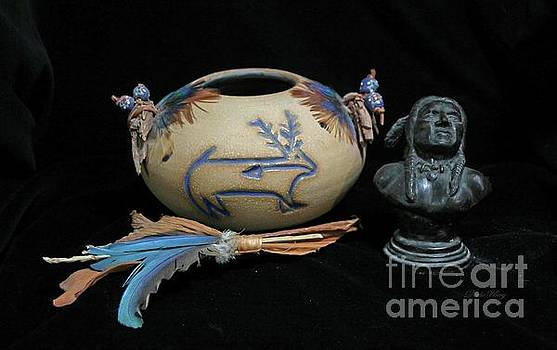 Native American in Turquoise by Dodie Ulery