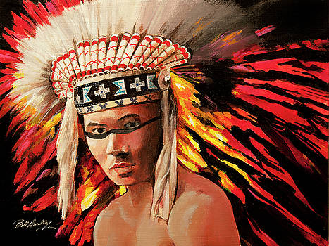 Native American Indian by Bill Dunkley
