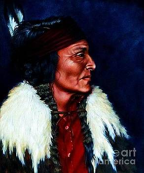 Native American Indian Profile by Georgia's Art Brush