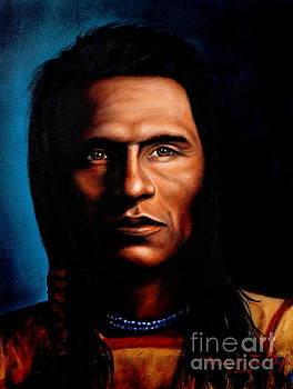Native American Indian Soaring Eagle by Georgia's Art Brush