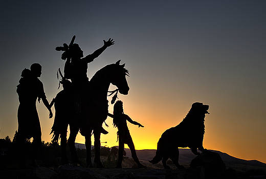 Native American Indians Sculpture by Brad Stinson