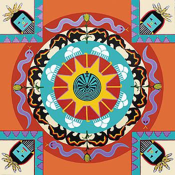 Native American Mandala by Barbara Rockhold