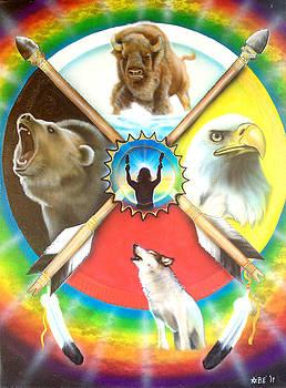 Native American Medicine Wheel by Amatzia Baruchi