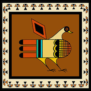 Native American Quail by Vagabond Folk Art - Virginia Vivier