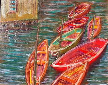 Native Fishing Boats by Vic Delnore