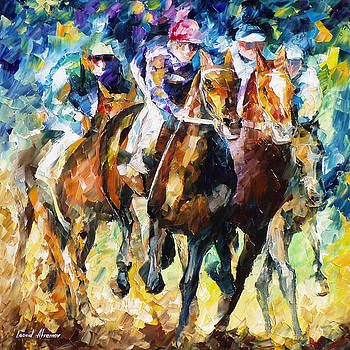 Native Raiser - PALETTE KNIFE Oil Painting On Canvas By Leonid Afremov by Leonid Afremov