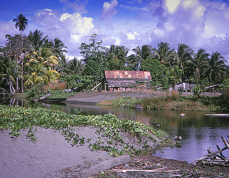 Native Village - Guadalcanal by Samuel M Purvis III