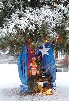 Alfred Ng - nativity in snowstorm