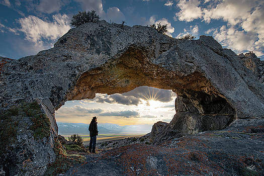 Natural Arch View by Leland D Howard
