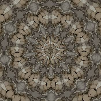 Natural Earth Tones Mandala Pattern by Tracey Harrington-Simpson