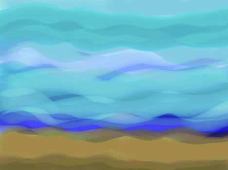 Natural Energy Abstract by Kathy K McClellan