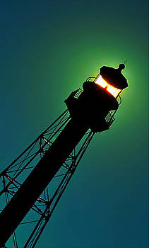 Natural Lit Lighthouse by Tammy  Shiver