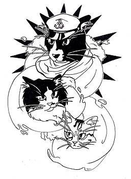 Nautical Cats by Lucy Loo Wales