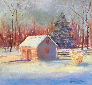Nauvoo winter scene by Rebecca Matthews