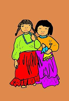 Navajo Sisters by Linda Rahn