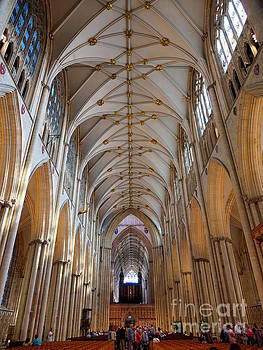 Nave of York Minster England by Louise Heusinkveld
