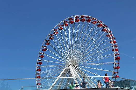 Navy Pier Ferris Wheel by Carolyn Ricks