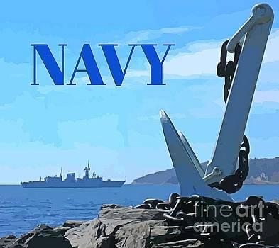 John Malone - Navy Pride Poster
