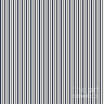 Navy White and Grey Vertical Stripes by Leah McPhail