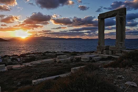 Naxos Portara in Sunset by Steffani Cameron