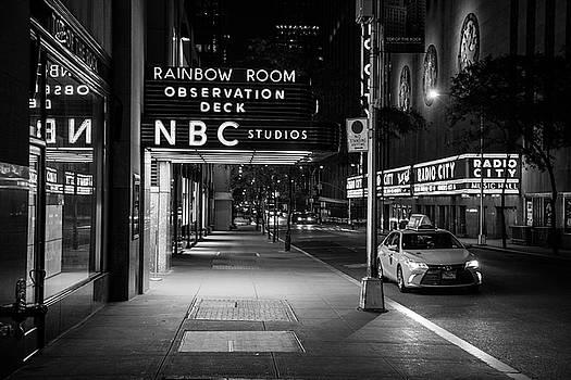 NBC Studios Rockefeller Center Black and White  by John McGraw