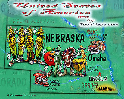 Kevin Middleton - Nebraska Fun Map