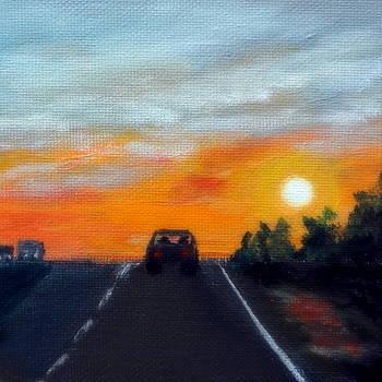 Nebraska Highway by Katy Hawk