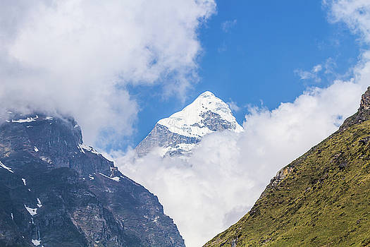 Neelkanth Mountain in the Indian Himalayas by Nila Newsom