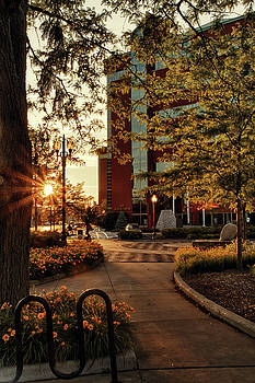 Neenah Center Sunset by Joel Witmeyer