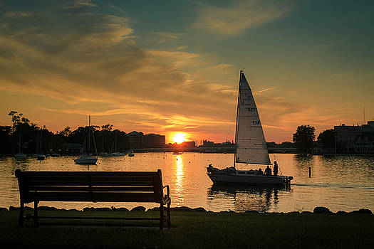 Neenah Harbor Sunset by Joel Witmeyer