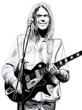 Neil Young 1972 by Ron Enderland