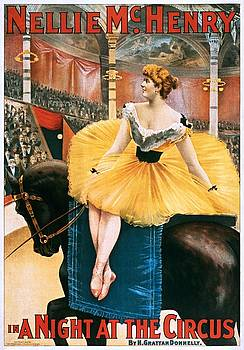 Nellie McHenry in A Night at the Circus, theatrical poster, 1893 by Vintage Printery